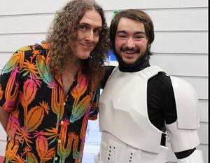 Yes, that is Trey and Weird Al Yankovic