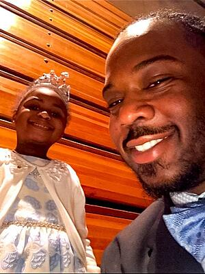 Brandon King and his daughter
