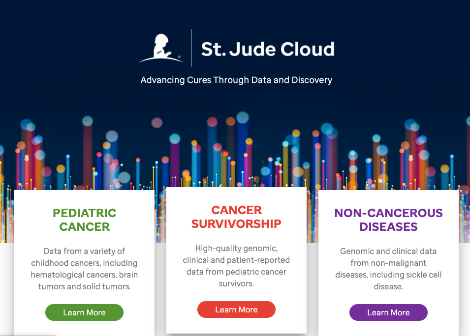 st.jude cloud website